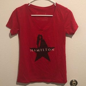Hamilton Red & black short sleeve women's top